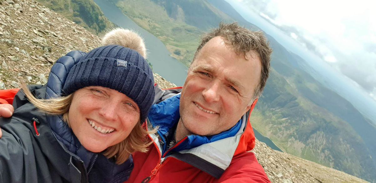 Will and Penny Hawkins on Grassmoor, Lake District
